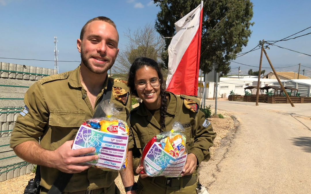 Helping Soldiers Celebrate Purim